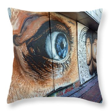 Throw Pillow featuring the photograph Salt Lake City - Mural 1 by Ely Arsha