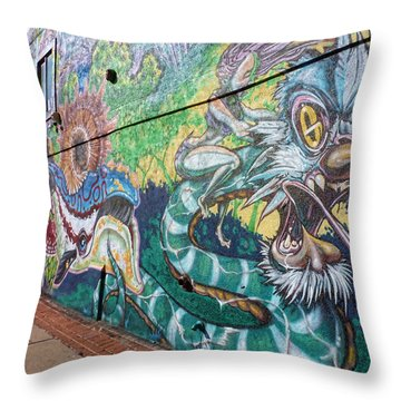 Throw Pillow featuring the photograph Salt Lake City - Mural 2 by Ely Arsha