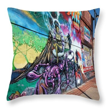 Throw Pillow featuring the photograph Salt Lake City - Mural 3 by Ely Arsha
