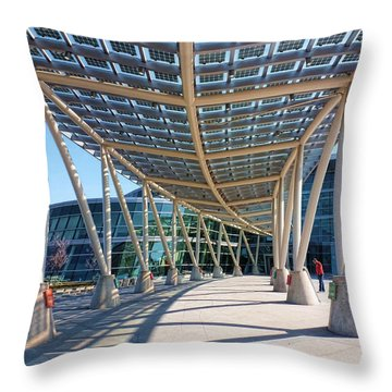 Throw Pillow featuring the photograph Salt Lake City Police Station - 2 by Ely Arsha