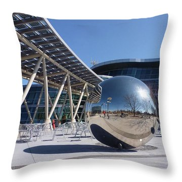 Throw Pillow featuring the photograph Salt Lake City Police Station - 1 by Ely Arsha