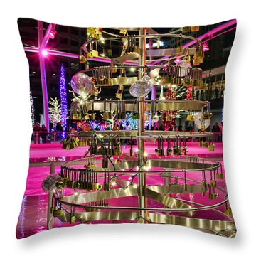 Throw Pillow featuring the photograph Salt Lake City - Skating Rink - 1 by Ely Arsha