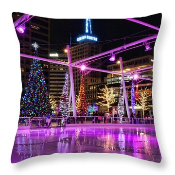 Throw Pillow featuring the photograph Salt Lake City - Skating Rink - 2 by Ely Arsha