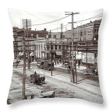 Salt Lake City Utah Throw Pillow by Unknown