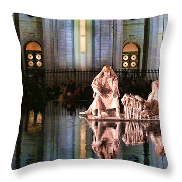 Throw Pillow featuring the photograph Salt Lake Temple - 2 by Ely Arsha