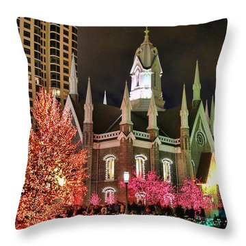 Throw Pillow featuring the photograph Salt Lake Temple - 3 by Ely Arsha