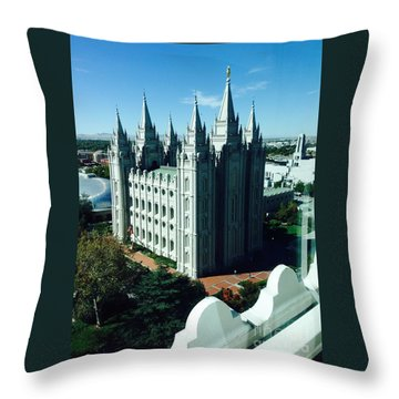 Salt Lake Temple The Church Of Jesus Christ Of Latter-day Saints The Mormons Throw Pillow