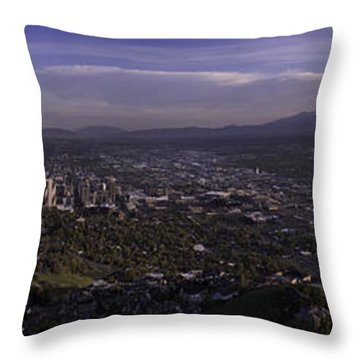 Salt Lake Valley Throw Pillow by Chad Dutson