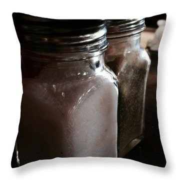 Throw Pillow featuring the photograph Salt N Pepper  by Alohi Fujimoto