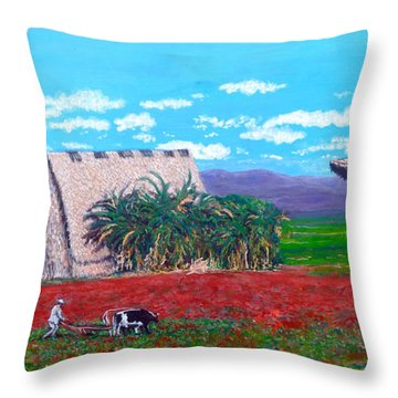 Salt Of The Earth Throw Pillow by Tom Roderick