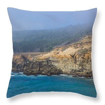 Salt Point State Park Coastline Throw Pillow