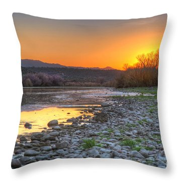 Salt River Bulldog Canyon Throw Pillow by Martin Konopacki