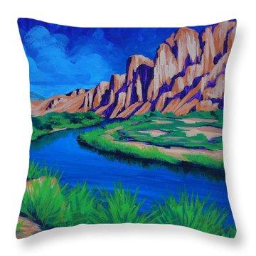 Salt River Throw Pillow