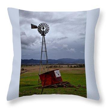 Salt Springs Windmill Throw Pillow