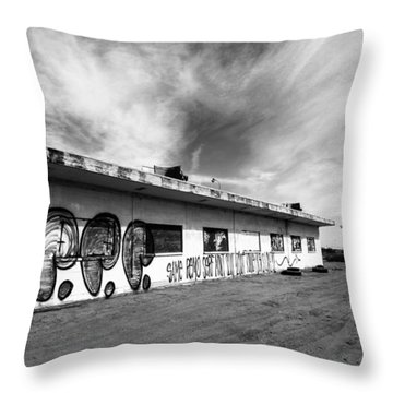 Throw Pillow featuring the photograph Salton Sea Cafe by Robert  Aycock