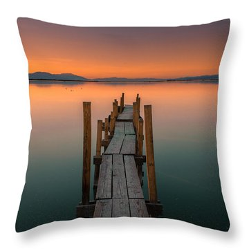 Salton Sea Dock Throw Pillow