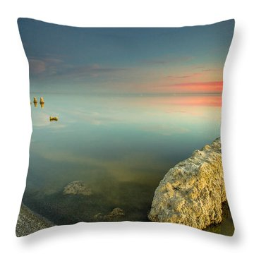 Salton Sea Sunset Throw Pillow