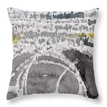 Saltwater- Abstract Painting Throw Pillow by Linda Woods