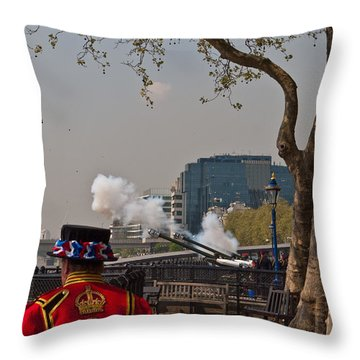 Salute For The Queen Throw Pillow