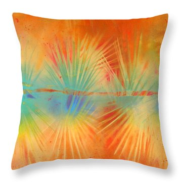 Throw Pillow featuring the painting Salute To The Sun by Gertrude Palmer