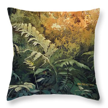Salute To The Sun Throw Pillow by Kris Parins