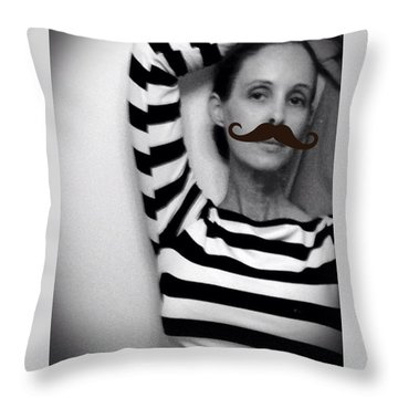 Throw Pillow featuring the photograph Salvador Dali And Me by Lisa Piper
