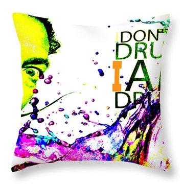 Salvador Dali Pop Art Throw Pillow
