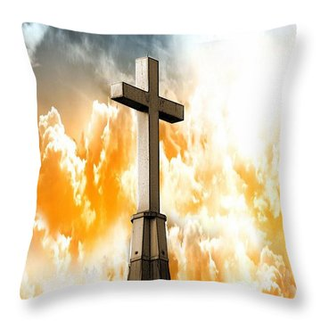 Throw Pillow featuring the photograph Salvation From Heaven by Aaron Berg