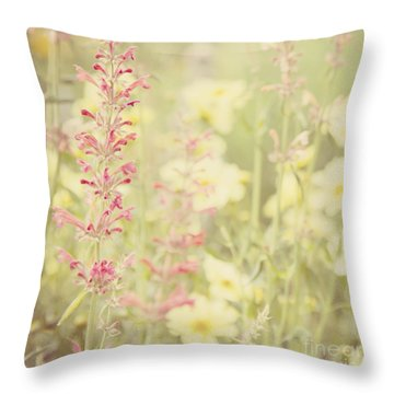Salvia Flower 2 Throw Pillow