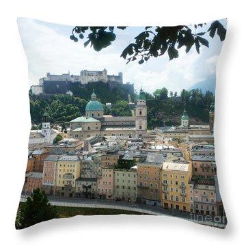 Salzburg Austria Old Town 3 Throw Pillow