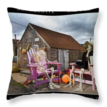 Sam And Peggy's Cove Throw Pillow by Betsy Knapp