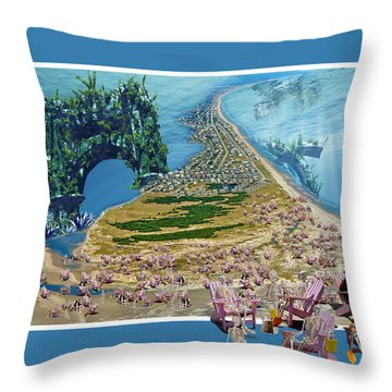 Sam And Topsail's Ghost Pirates  Throw Pillow