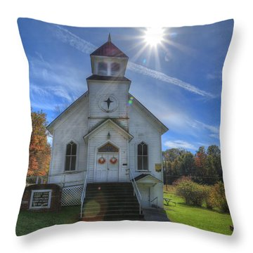 Sam Black Church Throw Pillow by Jaki Miller