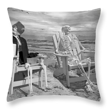 Sam Exchange Old Tales With A Friend Throw Pillow