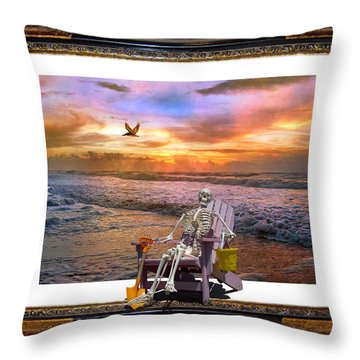 Sam Hangs Out With The Sunrise Throw Pillow