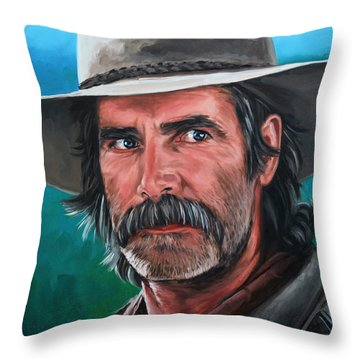 Sam Throw Pillow by Rick McKinney