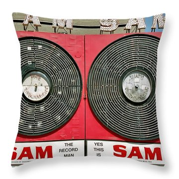 Sam The Record Man Throw Pillow