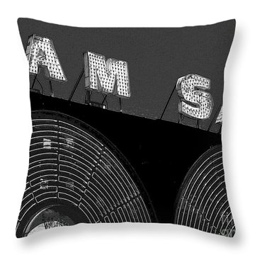 Sam The Record Man At Night Throw Pillow