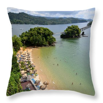 Samana In Dominican Republic Throw Pillow by Jola Martysz