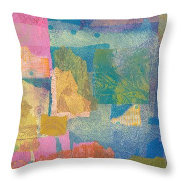 Throw Pillow featuring the mixed media Samarkand by Catherine Redmayne