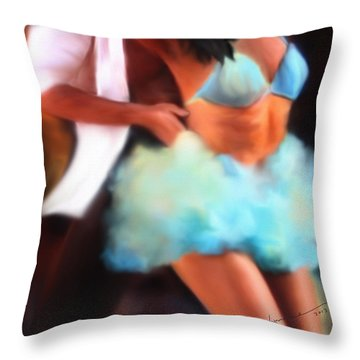 Samba Throw Pillow by Kume Bryant
