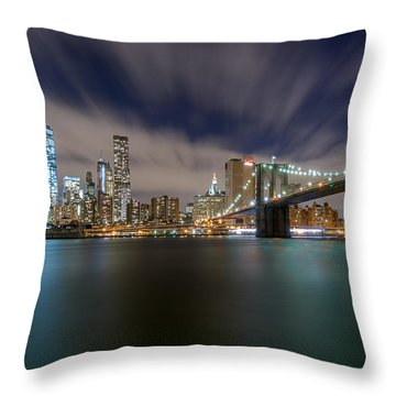 Throw Pillow featuring the photograph Same Bat Time  by Anthony Fields