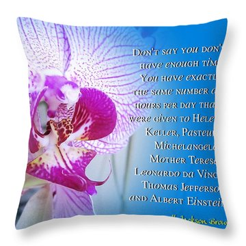 Same Time Throw Pillow