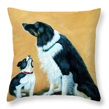 Throw Pillow featuring the painting Sammy And Breagh by Fran Brooks