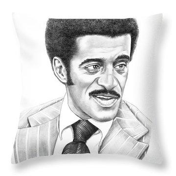 Sammy Davis Jr Throw Pillow by Murphy Elliott