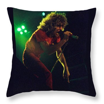 Sammy Hagar New Years Eve At The Cow Palace 12-31-78 Throw Pillow