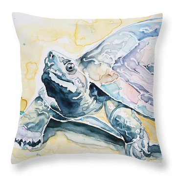 Sammy The Turtle Throw Pillow