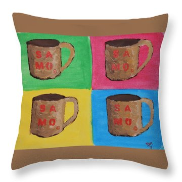 Samo Mug Throw Pillow