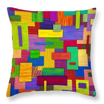 Sampler Throw Pillow by David K Small