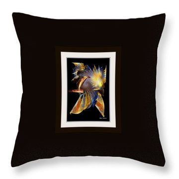Throw Pillow featuring the painting Samurai by Rafael Salazar